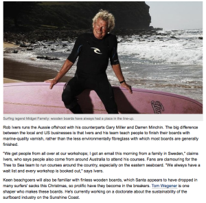 Wooden Surfboard Classes Brisbane