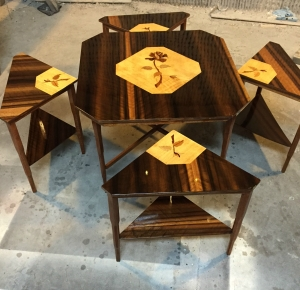 Bywater Design lovingly restores this gorgeous nest of tables.