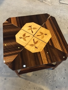 Qld Walnut, Silver Ash and Qld Maple create a dramatic effect on these coffee tables