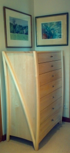 Silver Ash Chest of Drawers with soft close runners and full extension runners