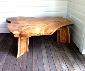 rustic slab table camphor laurel table