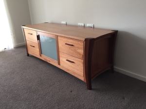 custom made maple TV Unit