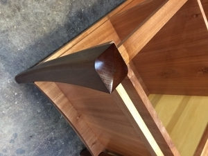 hand crafted timber polished leg