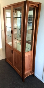 Practical yet classic. Queensland Maple display and storage unit.