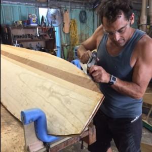 Hollow Wooden Surfboard Class Brisbane