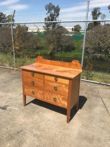 Restored Silky Oak Chest of drawers