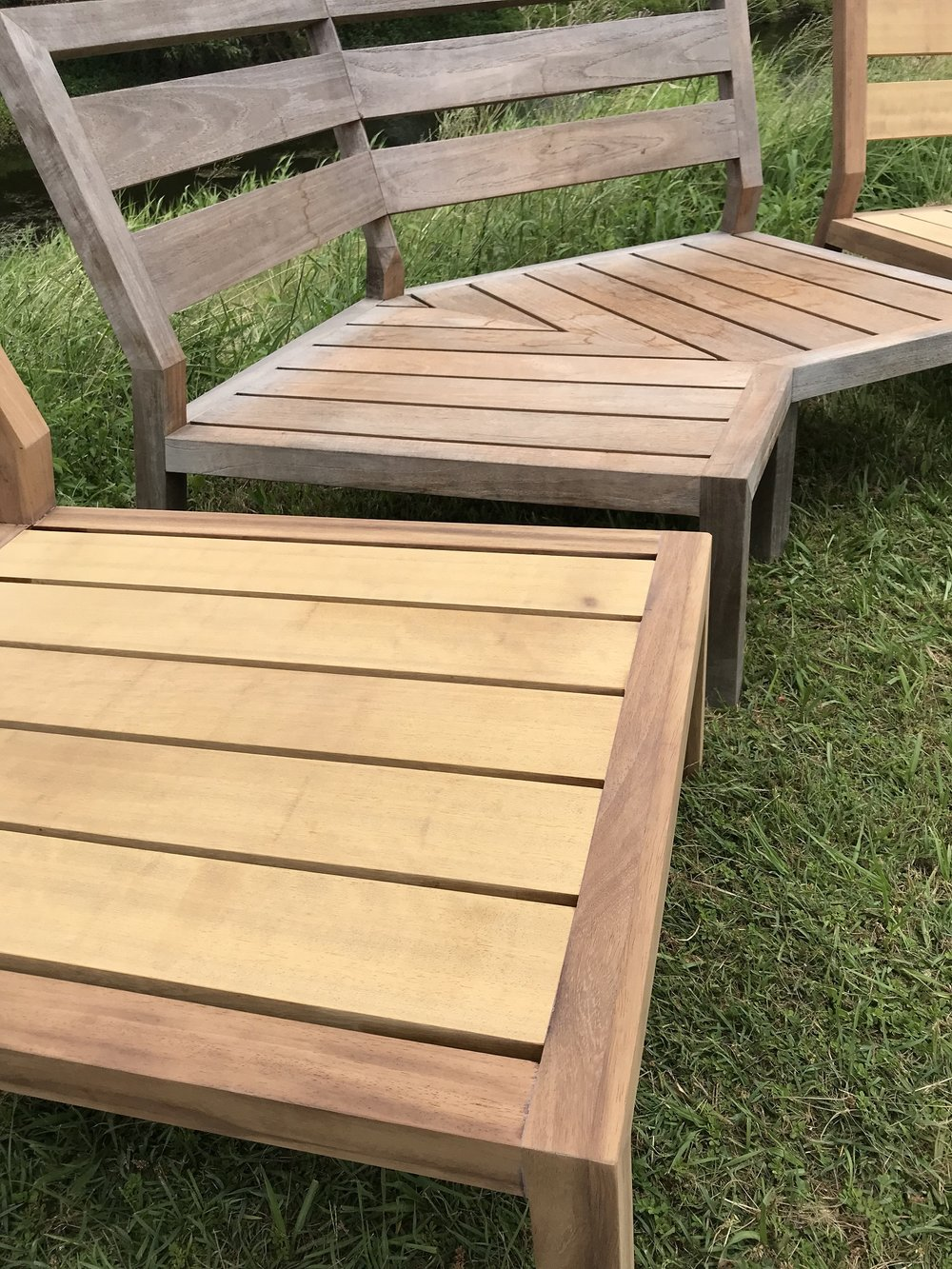 African Teak ready to weather naturally
