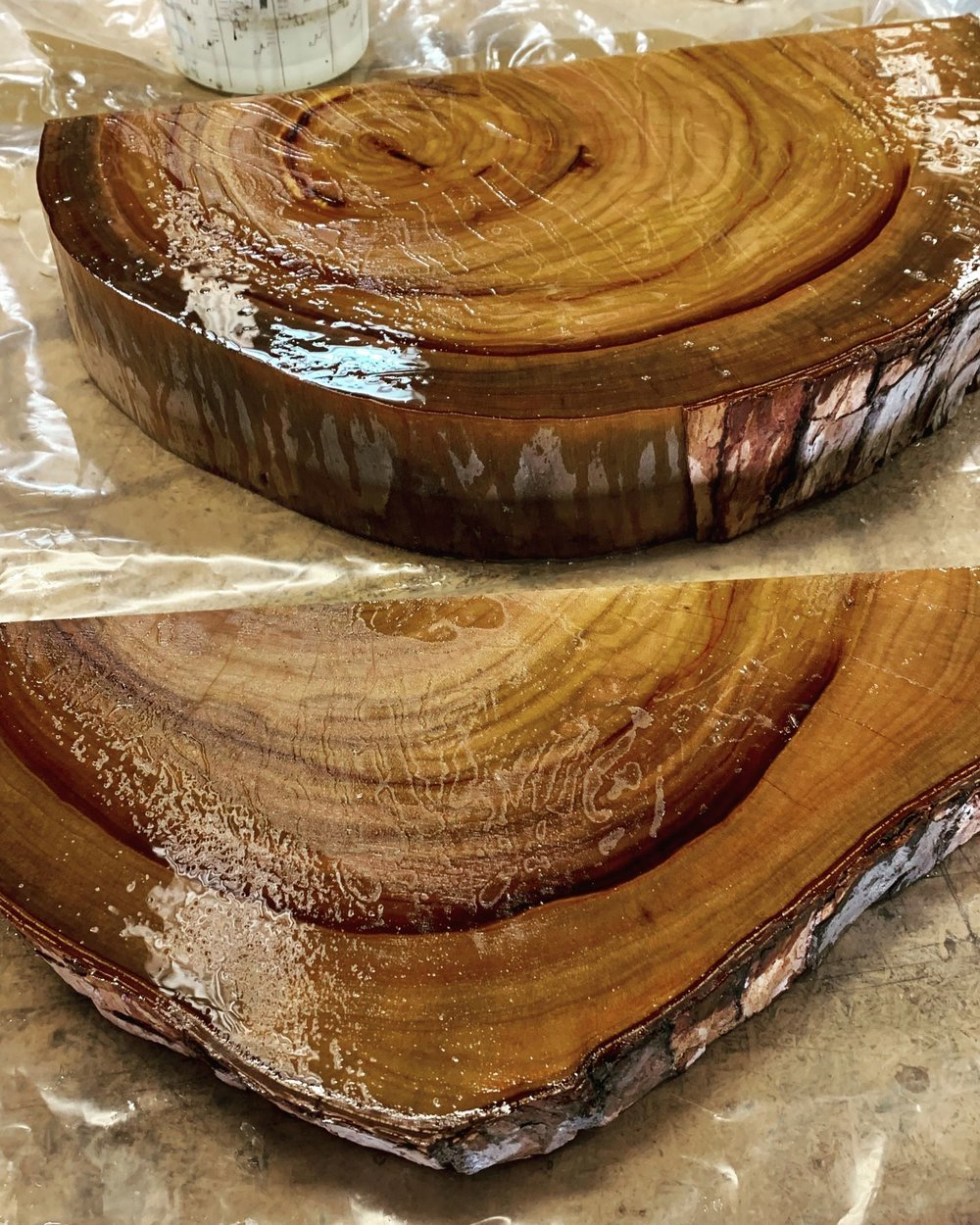 Resin and camphor laurel making beautiful things