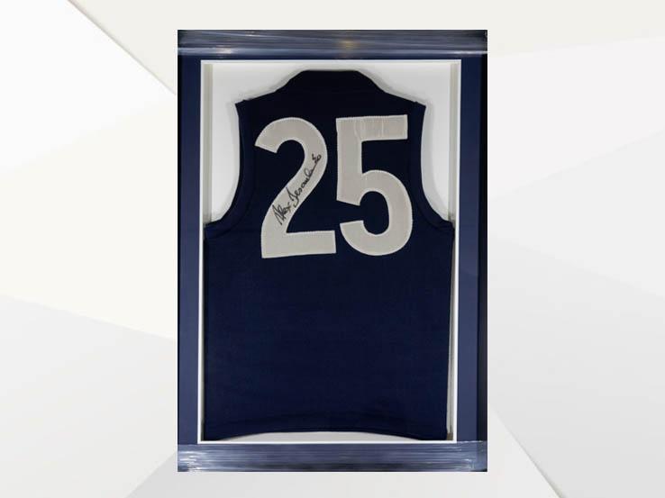 aa11b6f48201 AFL CARLTON JERSEY SIGNED BY ALEX JESAULENKO — SELLING THE LOT !