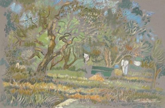 Nikos Hadjikyriakos-Ghika -    Olive trees, Corfu  , 1981