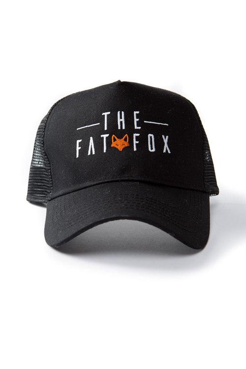 Black Trucker Cap. The Fat Fox ... bdb1980a48a5