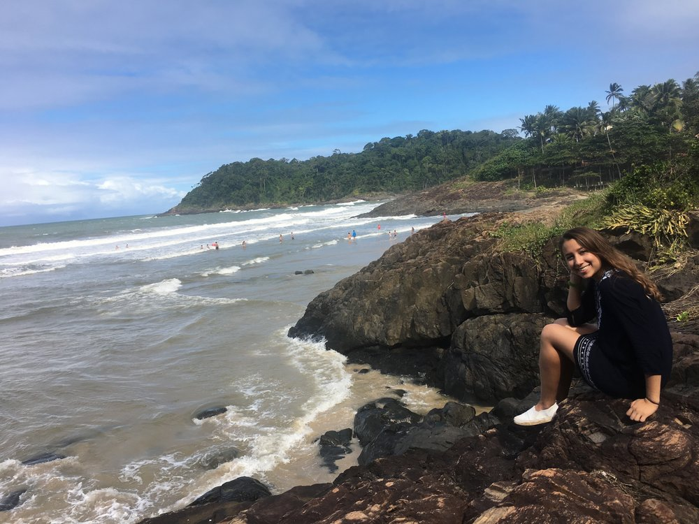 Ana, who volunteered for ETIV do Brasil in Itacaré, Bahia, in 2017