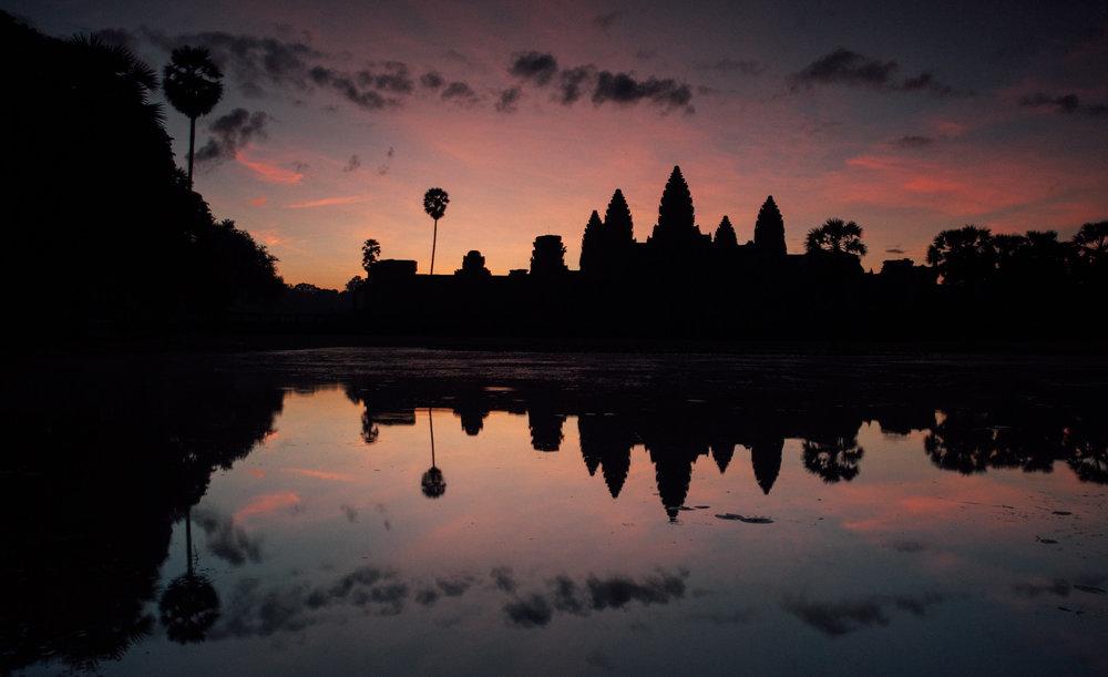 Angkor Wat at dawn, Siem Reap, Cambodia.