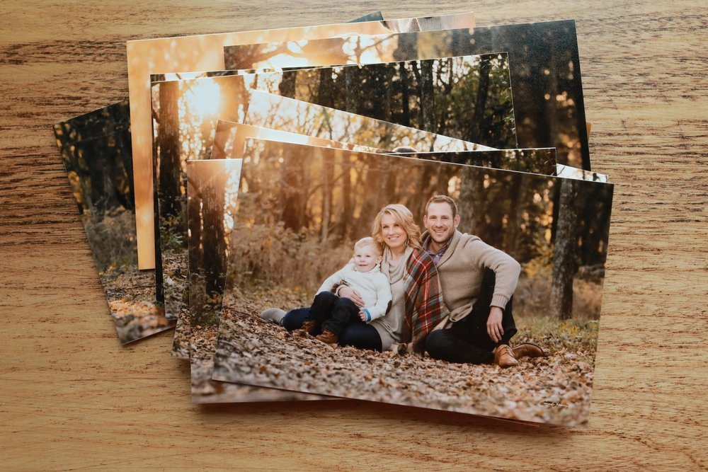 Photographic Prints - Our prints are professionally printed with archival quality photographic paper. You will walk away with beautifully printed images mounted to mat board that will stand the test of time.View more products in the product gallery.