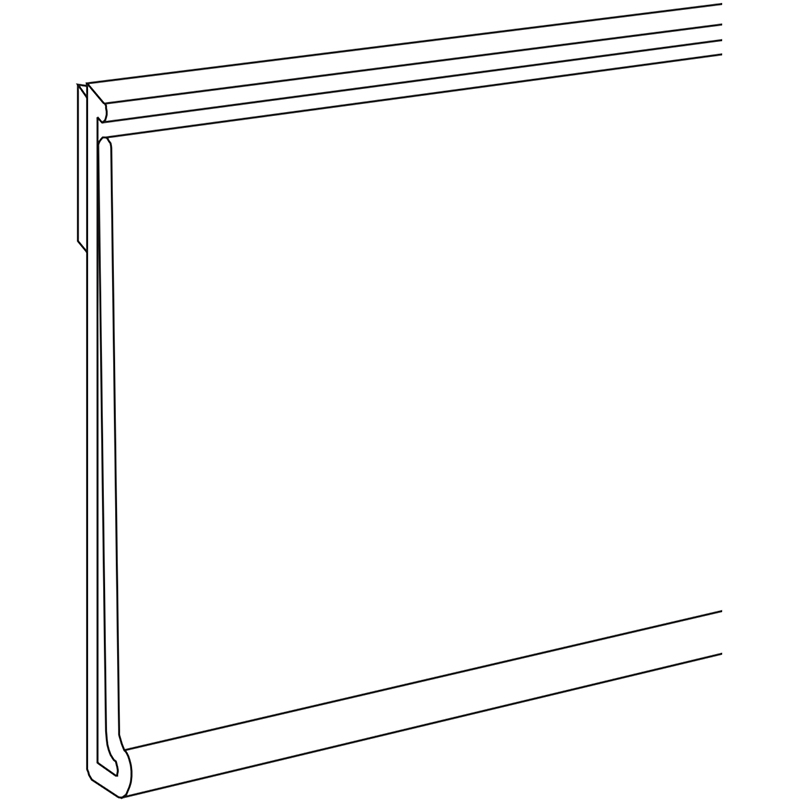 Self-Adhesive Data Strip - Self-Adhesive or Stick On Data Strip for (but not limited to) metal, wood, plastic and glass shelves. Can be cut. Call our sales team for requests - lead times and minimum order may apply.