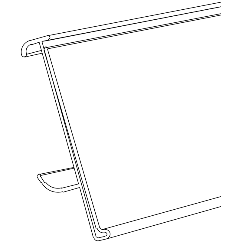 Data stripClip on - Clip On Data Strip for ITab, Eden or Tego Metall shelving. These can be easily cut to your required length. Standard Label Height 39 mm.