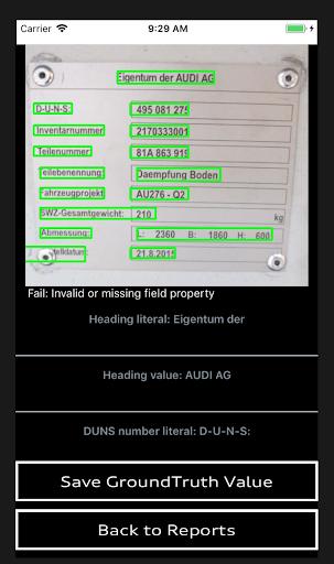 OCR Label reading system
