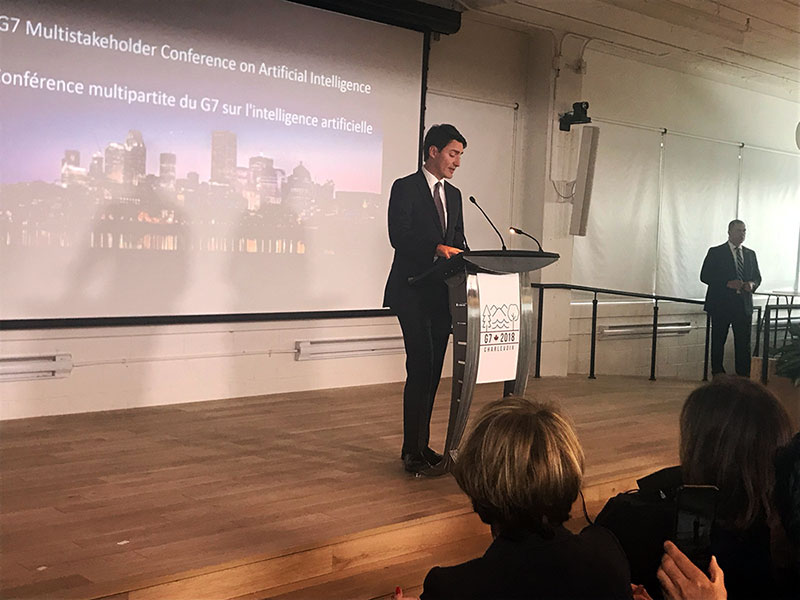 Prime Minister Trudeau at the G7 Multistakeholder Conference on Artificial Intelligence