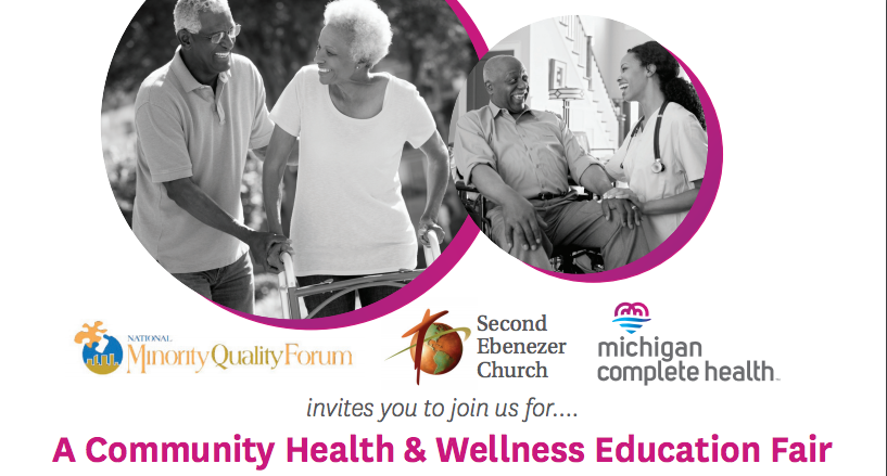 Community Health and Wellness Education Fair Flyer