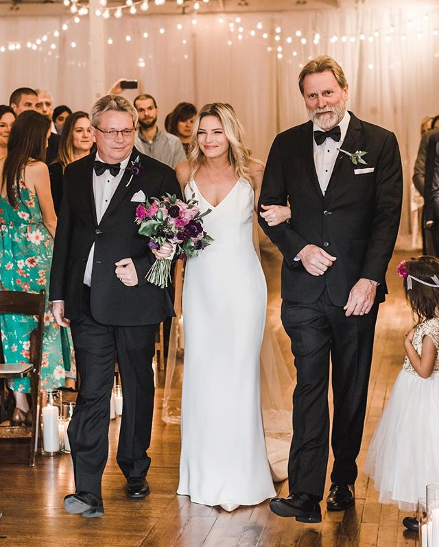 Everyone says that a girls first love is her dad, well Emery is lucky enough to have two!! The relationship she has with them is absolutely beautiful and it shone through at her wedding. Beautiful photo by @jillianknightphotography . Venue: @thestockroomat230  Brides Dress: @gildedbridal  Florist: @bloomworksraleigh  Beauty: @thebardotbridal  Coordinator: @Harmonyweddingsevents . #harmonyweddingsevents #ncweddings #thestockroom #thestockroomat230 #ncweddingphotos #raleigh #raleighweddings