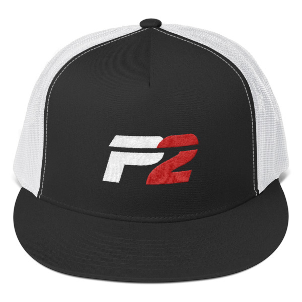 P2 Hat with White Mesh Back -