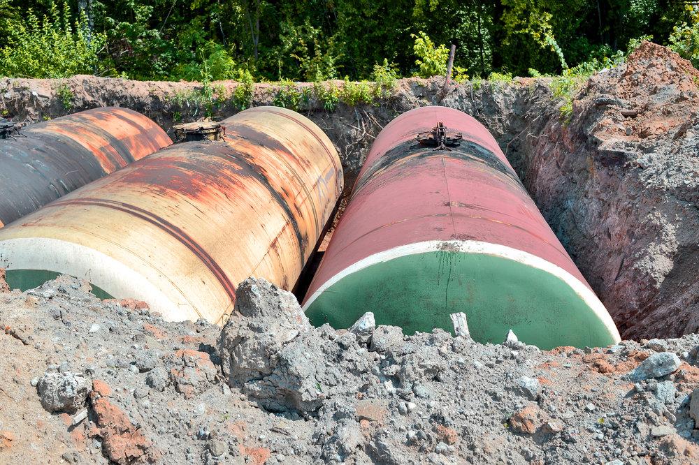 Underground Storage Tanks Mid-Excavation