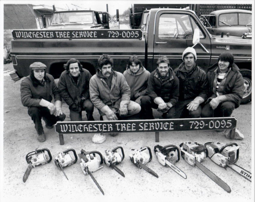 Peter's first company: Winchester Tree Service, 1979.