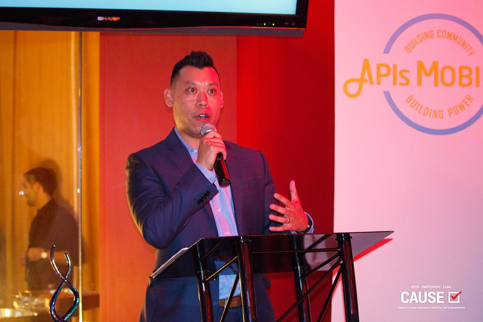 Adam Ma speaks at the APIs Mobilize reception