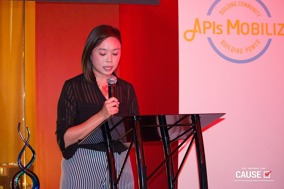 Lisa Thong speaks at the APIs Mobilize reception