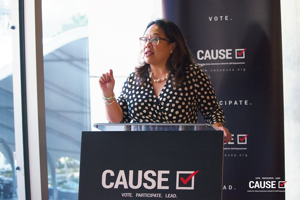 Mona Pasquil speaks to the CAUSE Leadership Network