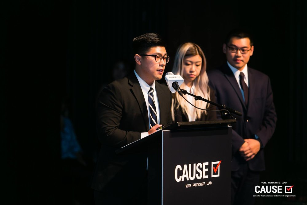 Andy Bui speaking at the 2018 Leadership Academy Graduation
