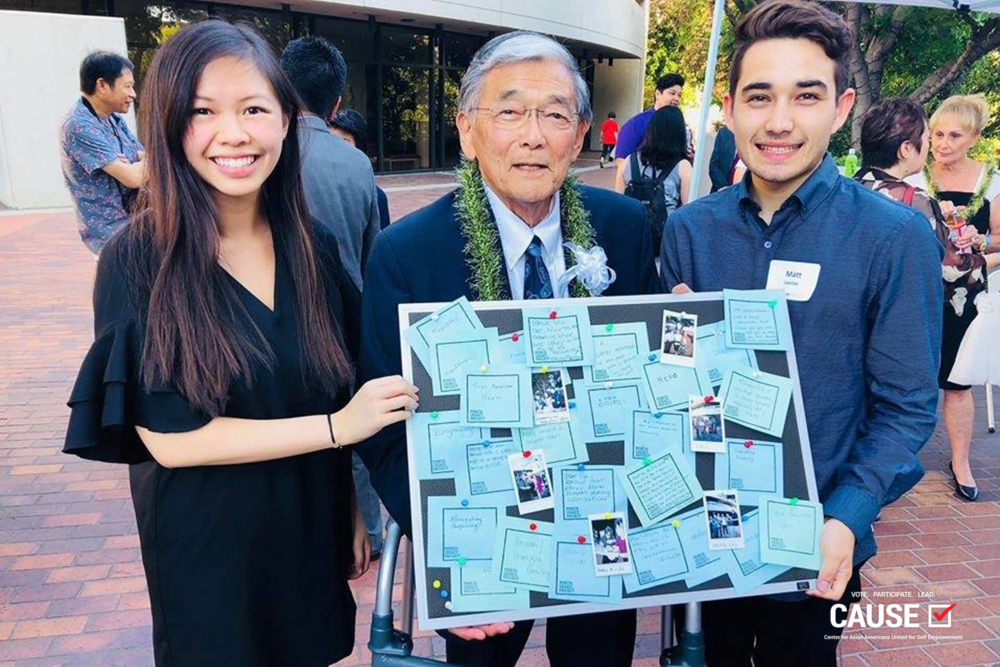 Leann Pham with Norman Mineta