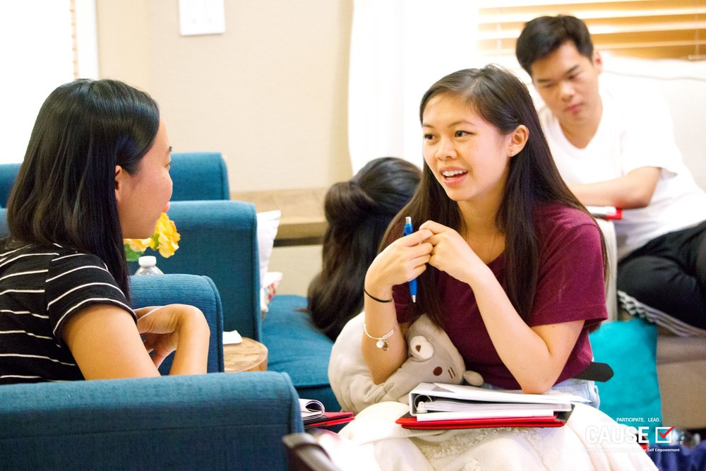 Leann Pham, 2018 CAUSE Leadership Academy orientation retreat