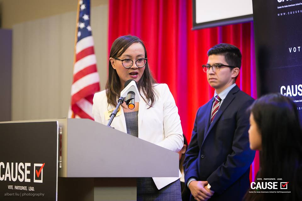 Tammy Tran speaks at the 2018 CAUSE Leadership Academy Graduation
