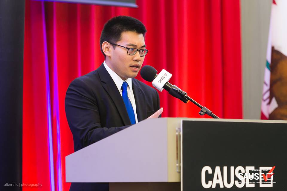 Benjamin Tran speaks at the 2018 CAUSE Leadership Academy Graduation