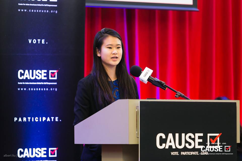 Jocelyn Chi speaks at the 2018 CAUSE Leadership Academy Graduation