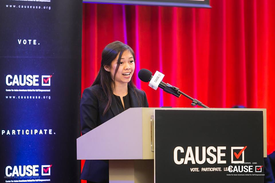 Leann Pham speaks at the 2018 CAUSE Leadership Academy Graduation