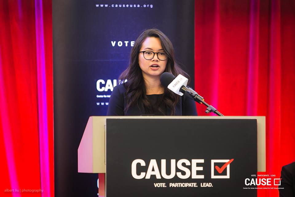 Pranett Chhunpen speaks at the 2018 CAUSE Leadership Academy Graduation