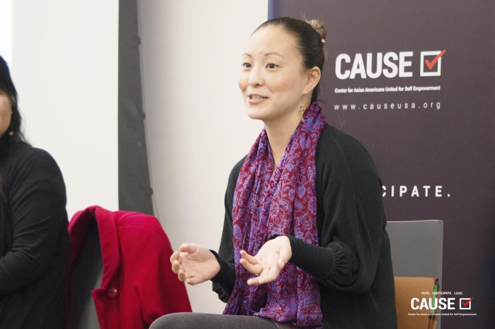 Sylvia Kim speaking to the 2019 CAUSE Leadership Institute