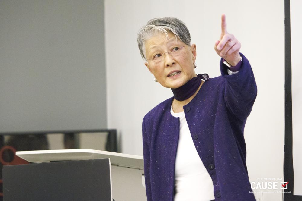 Deborah Ching speaking to the 2019 CAUSE Leadership Institute