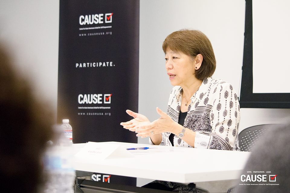 Anne Shen Smith speaking to the 2018 CAUSE Leadership Institute