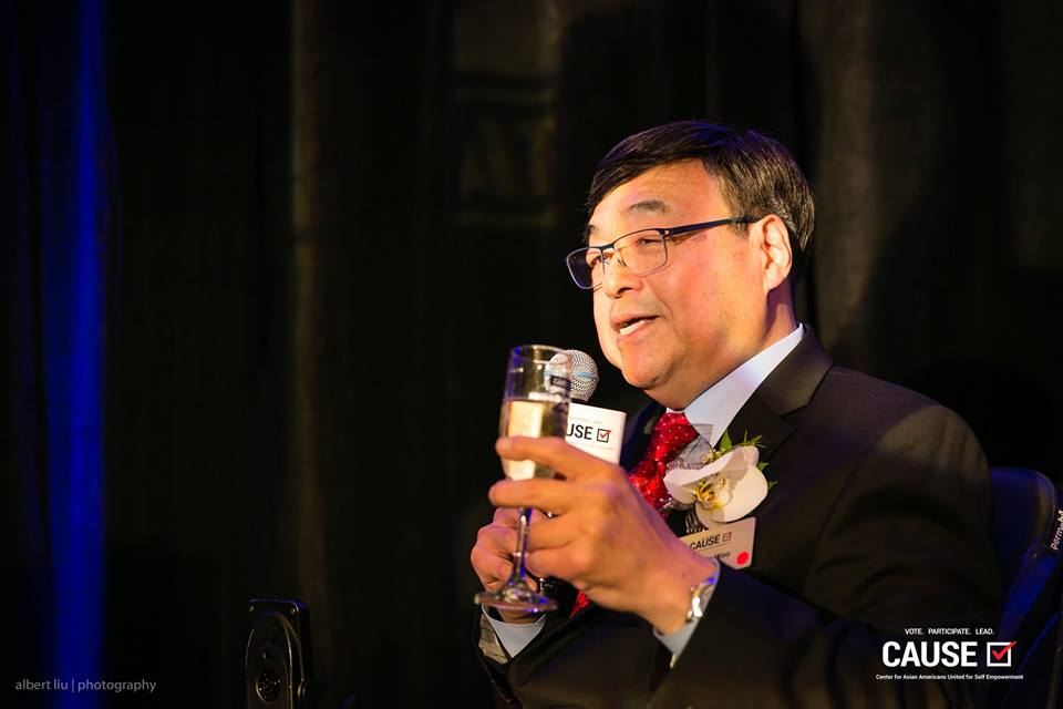 Charlie Woo speaking at the 2018 CAUSE Annual Gala