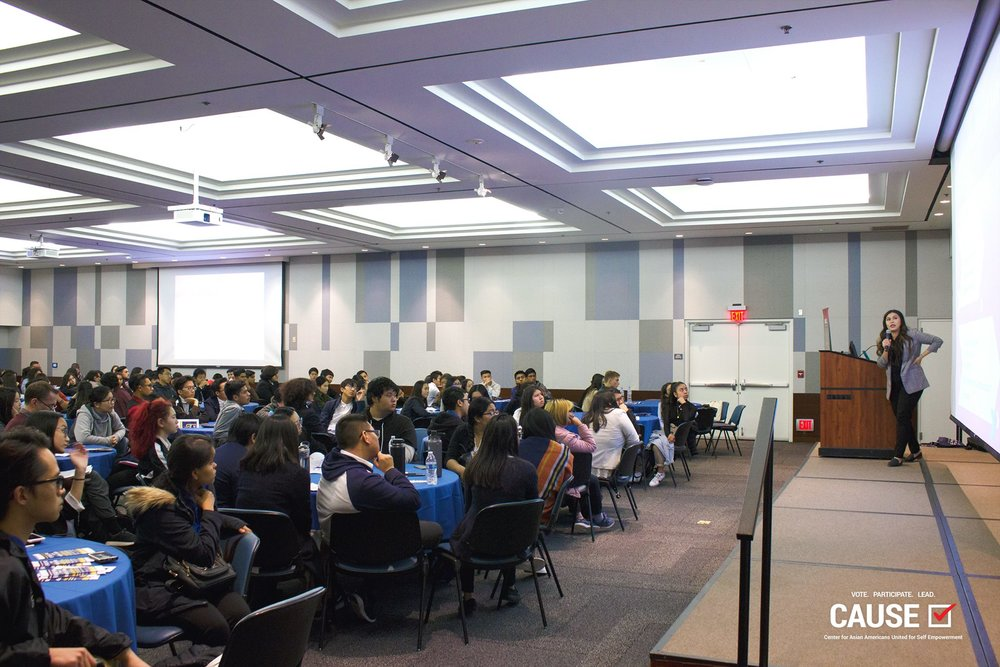 Rubi Martinez speaking at the 2019 Arsalyn Youth Conference