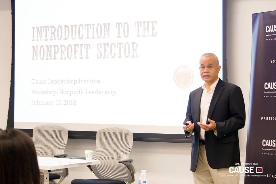 Joe Lumarda speaking to the 2018 CAUSE Leadership Institute