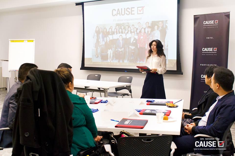 Leadership Horowitz speaking to the 2018 CAUSE Leadership Institute