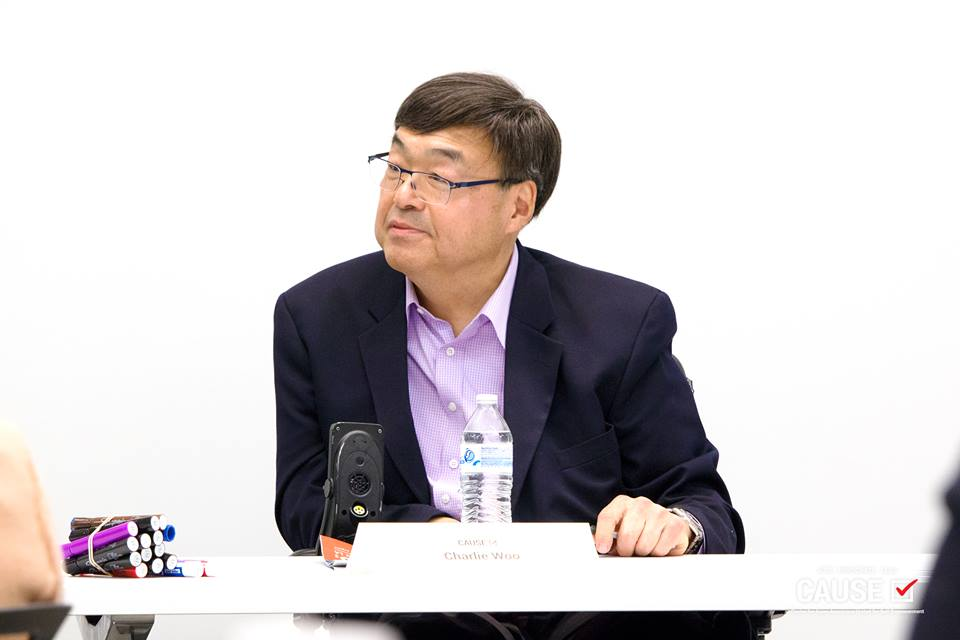 Charlie Woo speaking to the 2018 CAUSE Leadership Institute