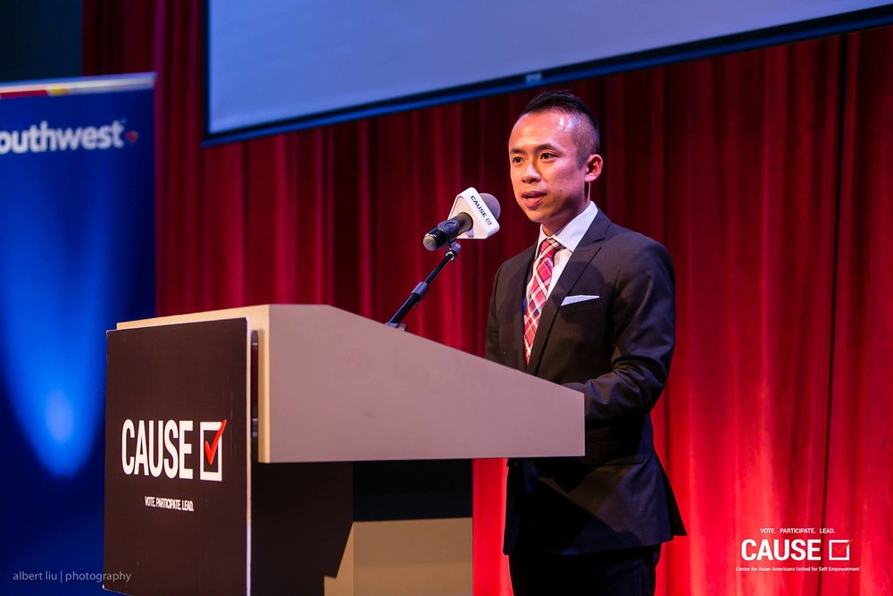 Jack Song speaking at the 2017 CAUSE Leadership Academy Graduation