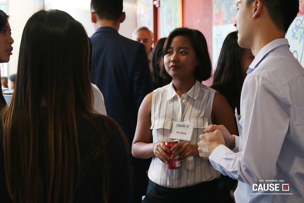 Dim Mang at the 2017 CAUSE Alumni Reception
