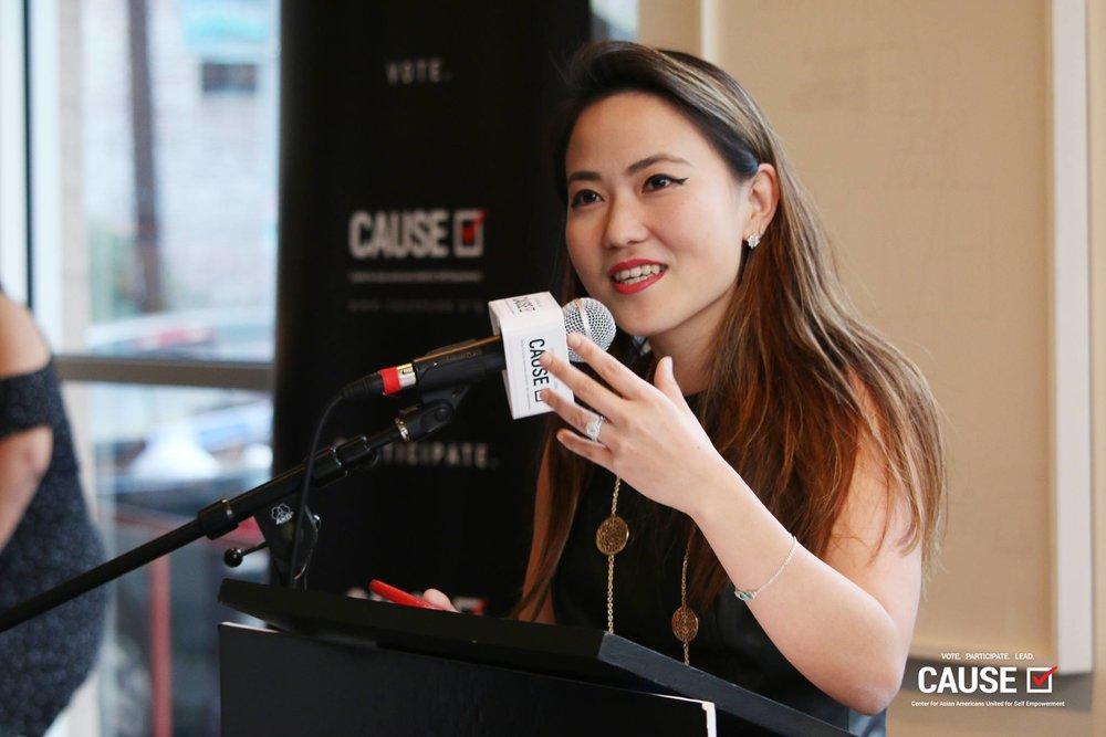 Kim Yamasaki at the 2017 CAUSE Alumni Reception