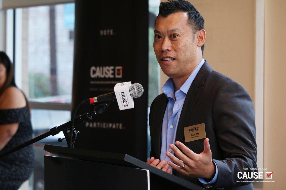 Adam Ma at the 2017 CAUSE Alumni Reception